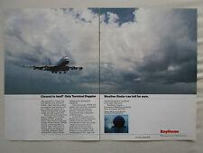 90-91 PUB RAYTHEON TERMINAL DOPPLER WEATHER RADAR BOEING 747 PAN AM ORIGINAL AD
