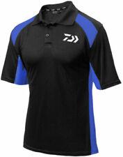 DAIWA POLO SHIRT BLACK/BLUE  RRP £24.99 XL