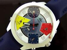 Swiss made Jacob & co five time zone JC model Multi color face watch Blue band