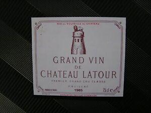 01 ETIQUETTE  CHATEAU LATOUR 1985