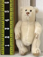 BEARLY THERE BEAR BY LINDA SPIEGEL-LOHRE SMALL JOINTED MOHAIR WHITE BEAR