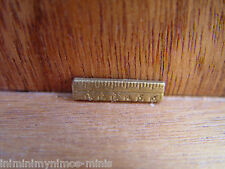 DOLL HOUSE 12th SCALE 'BRASS STYLE' METAL RULER 'UNIQUE' !! BUY IT NOW !!