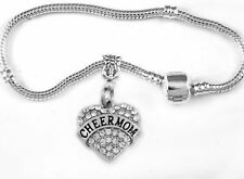 Cheer Mom bracelet Cheerleader mom bangle cheering present cheer mommy best gift