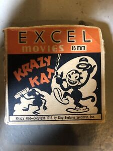"""Stabbed in the Circus"" Excel Movies 16MM KRAZY KAT, 1913, Vintage Movie Cartoon"
