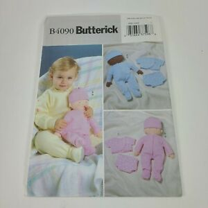 Butterick Baby Doll & Clothes Sewing Pattern B4090 2003 Uncut