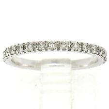 18k Oro Blanco 0.70ctw Brillante Redondo Diamante Eternity Alianza Anillo Talla