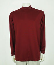 Nike Golf Fit Dry Red Tech Blend Casual Golf Mock Shirt Mens Large