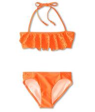 SEAFOLLY GIRLS SUMMER CAMP MINI TUBE BIKINI SWIM TOP ONLY ORANGE SIZE 16 NEW $56