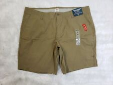 New Dockers Comfort Utility Shorts Straight Fit Stretch Tan Men's Size 42
