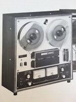 "Teac A-2070 A-2080 Reel to Reel ""Original"" Vintage Owners Manual ORIGINAL A2070"