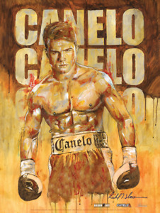 CANELO  BEFORE THE BELL Official Onsite fight poster by Richard T. Slone 18 x 24