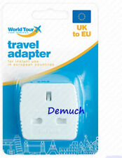 New TRAVEL ADAPTOR UK To EU Euro Europe European Mains Socket Plug Adapter UK ✔