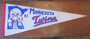 Vintage Pennant Minnesota Twins Team Logo Baseball