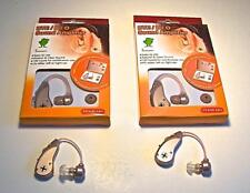 2 NEW DIGITAL BTE TOP VALUE HEARING AIDS 1 YEAR WARRANTY USES LOW COST BATTERY