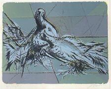 "Hans Erni ""Les Pigeons"" Original Lithograph S/N"