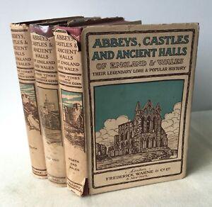 Timbs & Gunn - Abbeys Castles & Ancient Halls of England & Wales - 3 Vols c.1930