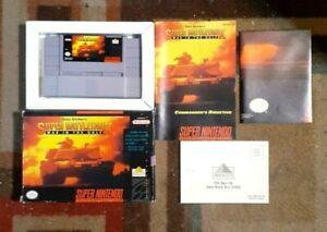 Battletank: War in the Gulf Complete (Super Nintendo, 1992) VG Shape & Tested