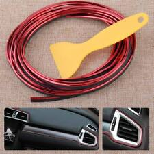 Red 5M Flexible Car Interior External Moulding Line Decorative Strip DIY Trim