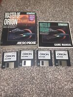 """1993 Master of Orion PC Game 3.5"""" Disk BIG BOX PC Game MicroProse Complete"""