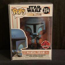 Funko Pop! #354 Star Wars Mandalorian - Death Watch (Two Stripes) w/ Protector