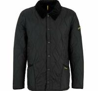 Barbour Jacket Coat Liddlesdale Track Quilted Black Size XL