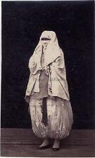 Afrique du Nord Arabe Femme voillée Vintage albumine format cdv 9,5 × 6 cm