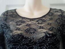 Sexy Metallic Silver & Black Lace ASOS Body Con dress UK12 BRAND NEW