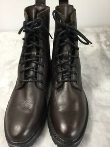Frye Womens Julie Combat Boots  Color Chocolate Size 9B New No Box