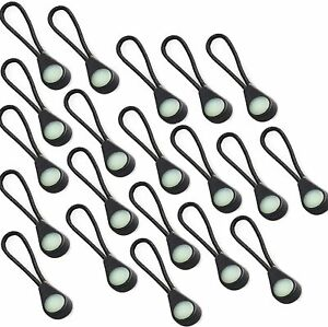 20pcs Glint Glow Zipper Pulls Bright Markers in The Dark for Coats Luggage bags