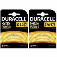 2 x Duracell 376 / 377 SR626SW 1.5V Silver Oxide Watch Battery V377 SR66  SR626