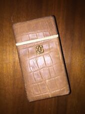 Vintage Buxton Hard Tan Brown Cigarette Case Holder