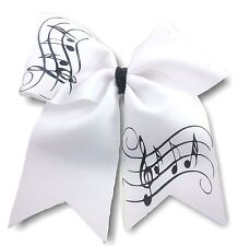 Musical notes Cheer Hair Bow