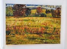 "Early Scottish Archibald Peddie oil on canvas Cornfield 1947 22 h x 30"" wide"