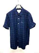 Abercrombie & Fitch camicia button down mezze maniche  taglia M Blu originale