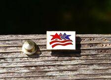 Olympic Games Stars & Stripes Red White & Blue USA Metal & Enamel Pin Pinback
