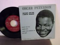 "Oscar Peterson,Clef  EP 123,""Piano Solos"",US,7"" EP with P/C,1956 jazz classic,EX"