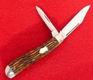 Schrade Cut Co 1904-46 mint dogleg trapper bone knife