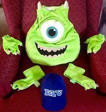 DISNEY MONSTERS INC UNIVERSITY MIKE WAZOWSKI COSTUME HAT GLOVES FEET CHILD S 5 6