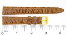 Watchband Genuine Lizard watch strap stitched padded Italy 12 mm 14 mm browns