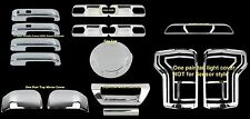 For Ford F-150 15-16 Chrome Mirror DOOR PLATE TAIL LIGHT GATE GAS CAP 3RD COVERS