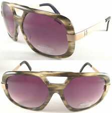 RARE & COOL MISSONI GENTS SUNGLASSES 0289 ACETAT/METALL-HORN/GOLD/BLACK