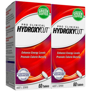 2 X HYDROXYCUT PRO CLINICAL HYDROXYCUT 60 TABLETS Diet Pill Green Coffee