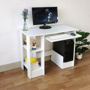 Small 90cm Computer Desk Table PC Laptop Shelves Kids Home Office Worksation