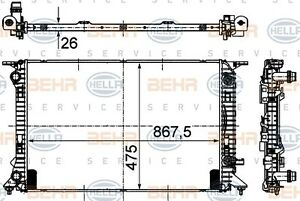Radiator fits AUDI A5 8T 2007-on MAHLE 8MK376745631