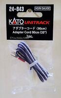 "Kato 24843 HO/N Gauge Unitrack Adapter Cord 90cm(35"") 1pc. New"