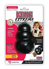 Large Black Extreme  KONG Tough Dog Toy Stuff-able Chew Toy Boredom Breaker