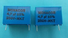 2 x 4.7uf MKT PCB FOIL CROSSOVER CAPACITORS