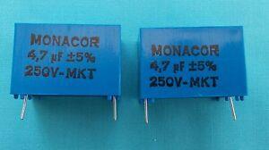 4.7uf MKT PCB FOIL CROSSOVER CAPACITORS x 2