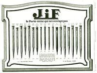 Publicité ancienne porte mine Jif 1925 issue de magazine