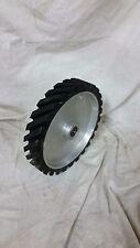 "6"" serrated Contact wheel for 2x72 belt grinder sander, Dynamically balanced"